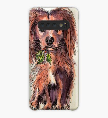 Christmas dog. Elizabeth Moore Golding© Case/Skin for Samsung Galaxy