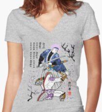 Dragon Ball Z - Future Trunks vs Frieza - 2 - Samurai Art  Women's Fitted V-Neck T-Shirt