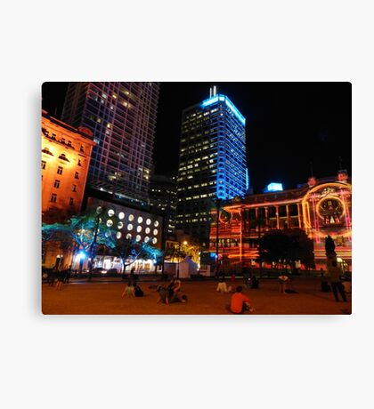 Lit up for the G20 meeting in Brisbane Canvas Print