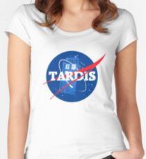 TARDIS - Doctor Who Women's Fitted Scoop T-Shirt