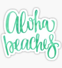 Aloha Beaches Sticker