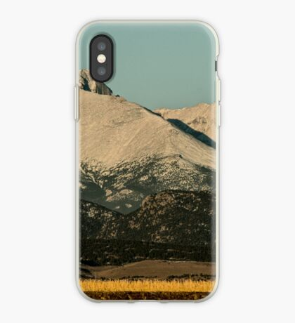 Moonset Over Meeker  and Longs Peak  iPhone Case