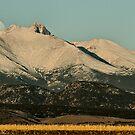 Moonset Over Meeker  and Longs Peak  by Gregory J Summers