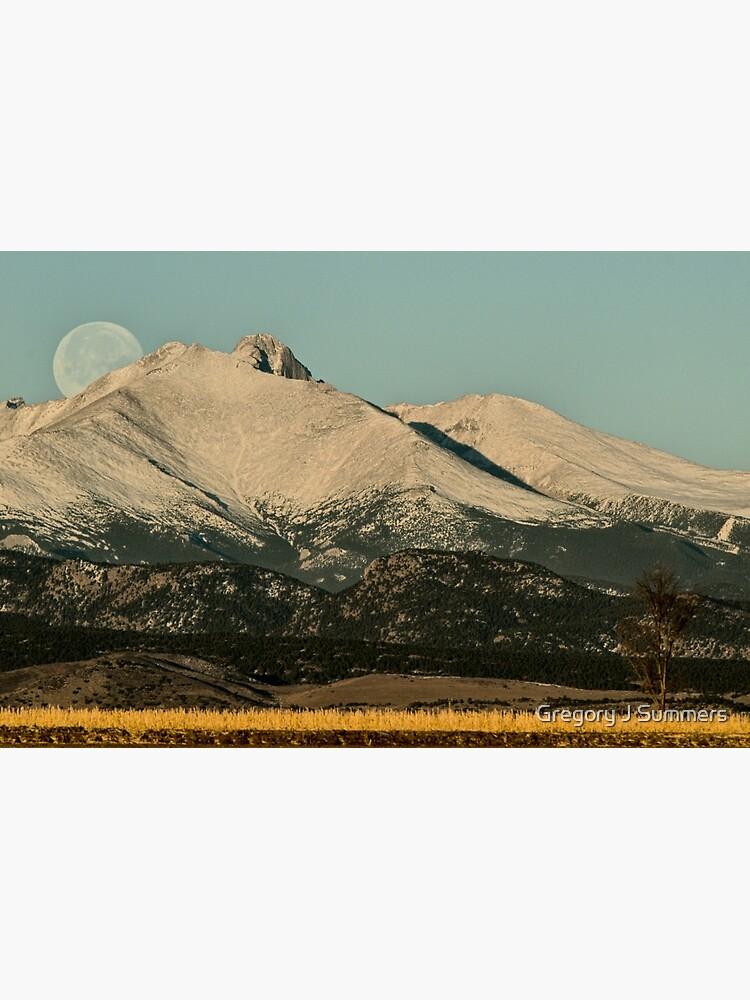 Moonset Over Meeker  and Longs Peak  by nikongreg
