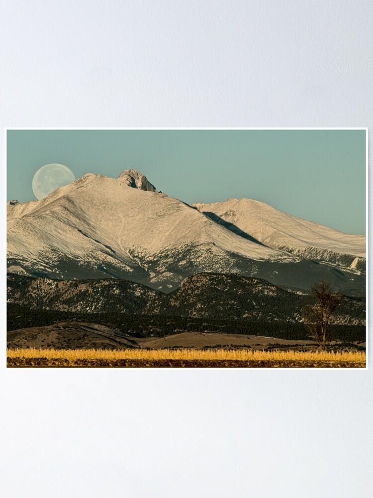 Alternate view of Moonset Over Meeker  and Longs Peak  Poster