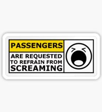 Passengers are Requested: White Sticker