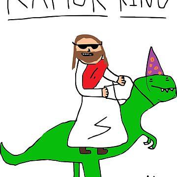 Jesus The Raptor King by AlexAdamsonArt