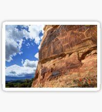 McConkie Ranch Petroglyphs - Dry Fork Canyon - Vernal - Utah Sticker