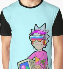 Vaporwave Rick Graphic T-Shirt