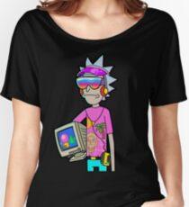 Vaporwave Rick Women's Relaxed Fit T-Shirt