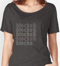 Minecraft Blocks& Women's Relaxed Fit T-Shirt