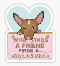 Who finds a friend finds a treasure (girl) Sticker