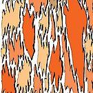 Bark - orange by David Fraser