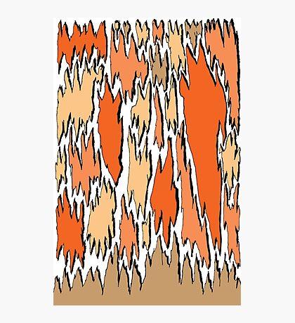 Bark - orange Photographic Print