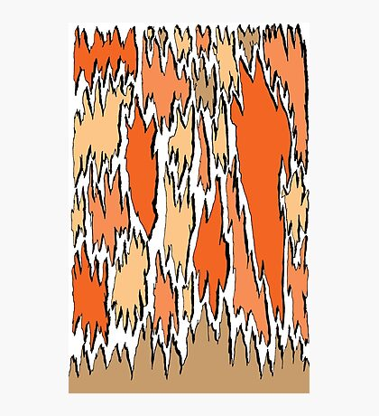 Bark - orange Photographic Print