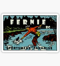 Fernie BC Sportsmen's Paradise Vintage Travel Decal Sticker