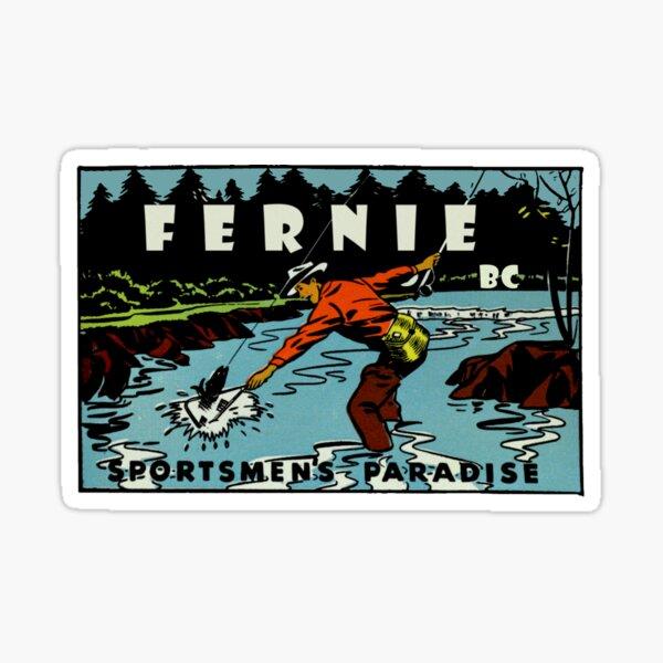 Fernie BC Sportsmen's Paradise Vintage Travel Decal Sticker