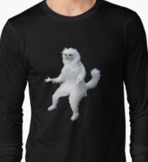 Persian Cat Room Guardian Meme Long Sleeve T-Shirt