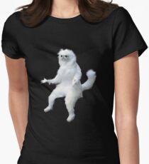 Persian Cat Room Guardian Meme Women's Fitted T-Shirt