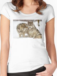 Love you sweetie... - Timber Wolves Women's Fitted Scoop T-Shirt