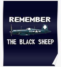 Corsair WWII History Black Sheep Squadron - Jet Pilot Poster