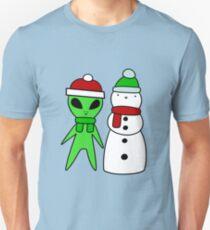 Alien and Snowman T-Shirt