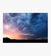 Explosion of lightning over Wollongbar, NSW Photographic Print