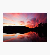 Sunset over Lake Baroon, QLD Photographic Print
