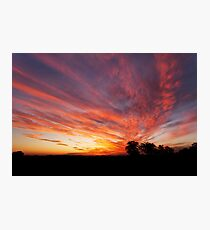Sunset over Goonellabah, NSW Photographic Print