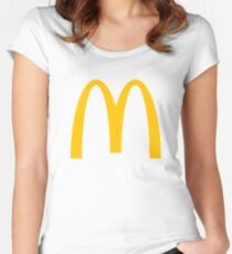 McDonald's Logo Women's Fitted Scoop T-Shirt