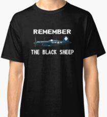 Corsair WWII History Black Sheep Squadron - Jet Pilot Classic T-Shirt
