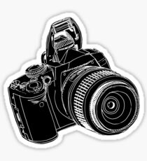 dslr / blk on blk Sticker