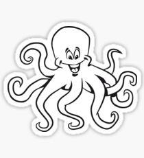 Tintenfisch oktopus lustig comic  Sticker