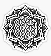 """Life"" Sacred Geometry Mandala Sticker"