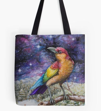 Rainbow Crow Tote Bag