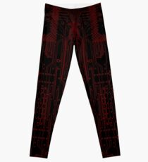 Circuitry Leggings (RED) Leggings