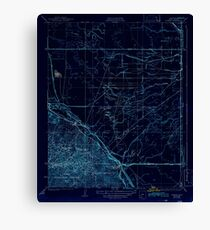 USGS TOPO Map California CA Tupman 301548 1933 31680 geo Inverted Canvas Print