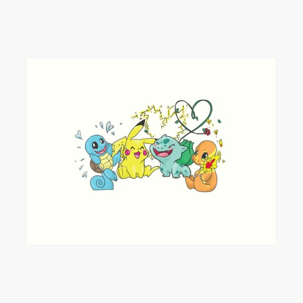4 Blushing Starters Art Print