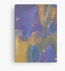 Acrylic Print - Yellow/Blue/Purple Canvas Print