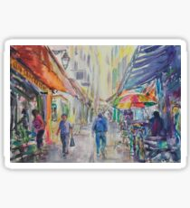 Provence street stall Sticker