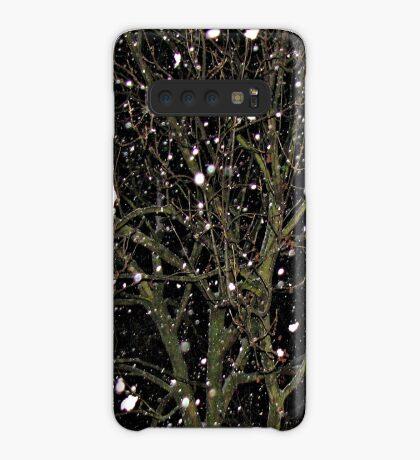 Falling Snow - Night Scene Hülle & Klebefolie für Samsung Galaxy
