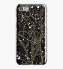 Falling Snow - Night Scene iPhone Case/Skin