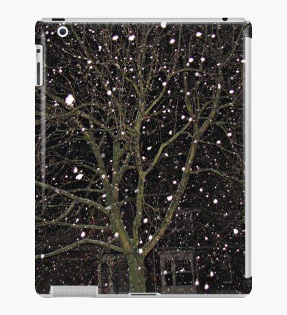 Falling Snow - Night Scene iPad-Hülle & Klebefolie