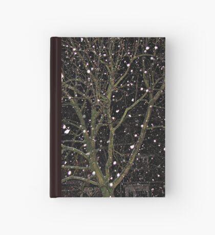 Falling Snow - Night Scene Notizbuch