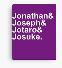 JoJo & Helvetica Canvas Print