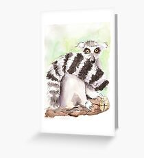 Toadstool (The Lemur Who Sat TOO Long) Greeting Card