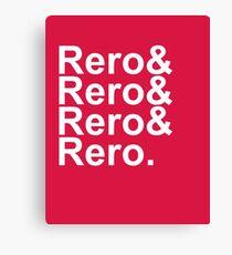 Rero& Helvetica Canvas Print