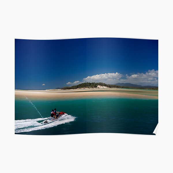 Jet Skiing in Paradise Poster