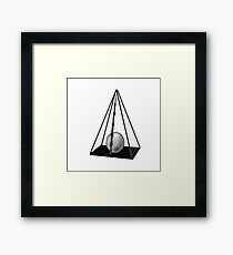 minimalist deathly hallows Framed Print