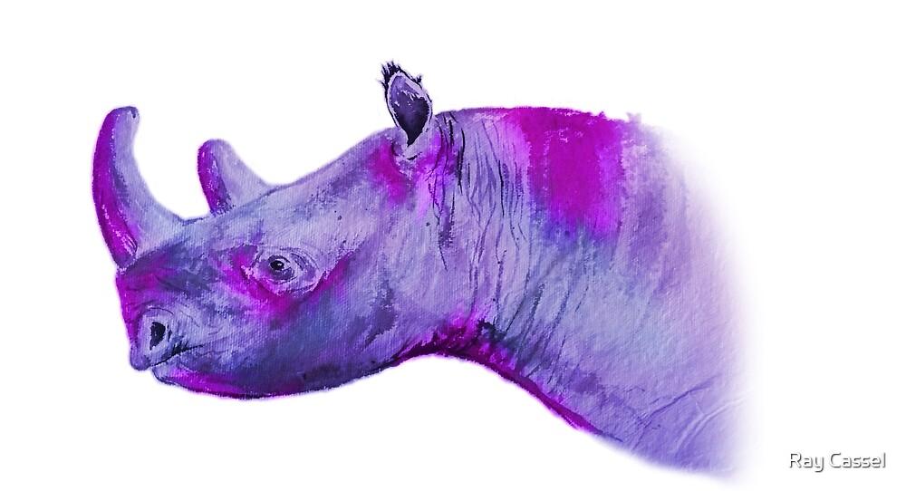 Black Rhinoceros Profile by Ray Cassel